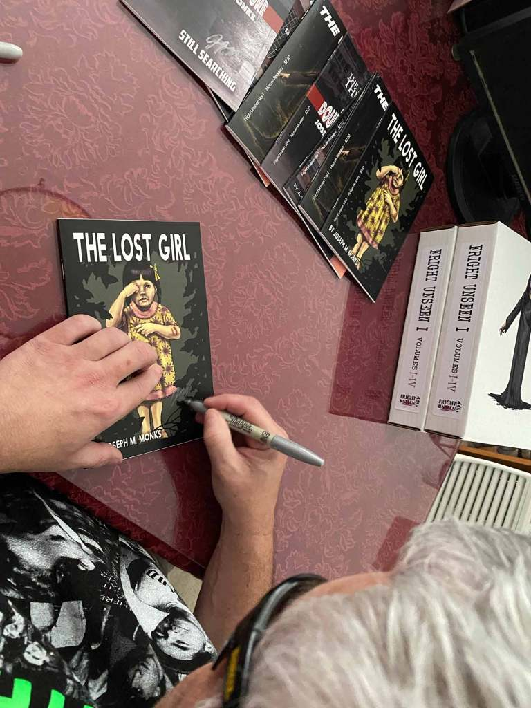 Joe signing The Lost Girl