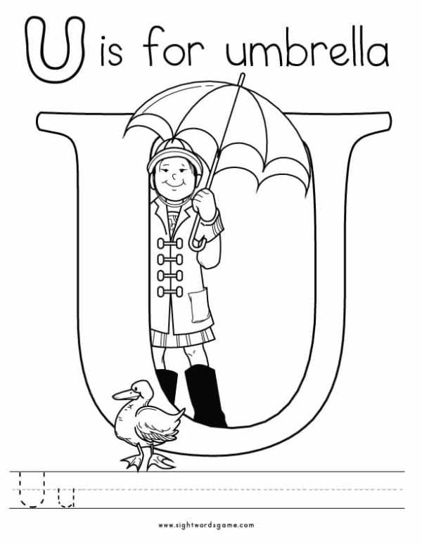letter u coloring pages # 11