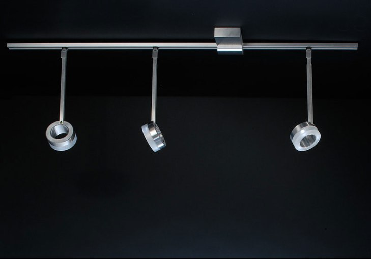 Doros   SiglLicht Ceiling lights are also part of our designer rail system  such as the Doros  designer ceiling lamp with its three spotlights  By means of a 1 meter rail  it