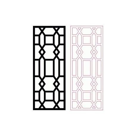 Cloison décorative DXF modèle Design DXF fichier