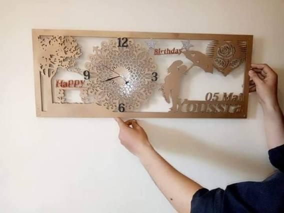 Horloge mural cadeau de mariage