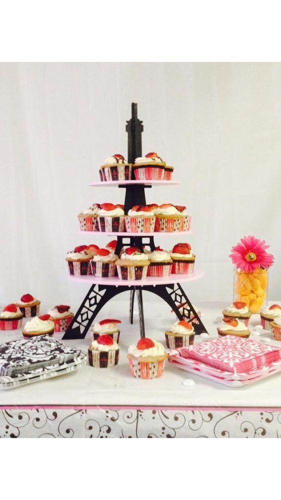 Plateau décoratif gâteaux Tour Eiffel