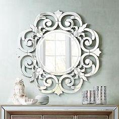 Miroir d'entrée argenté