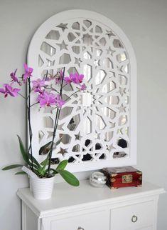 Miroir d'entrée avec motif traditionnel