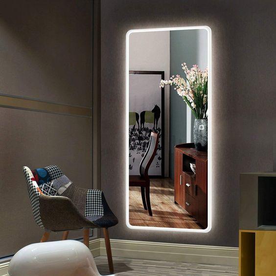 Miroir simple avec cadre Led lumineux