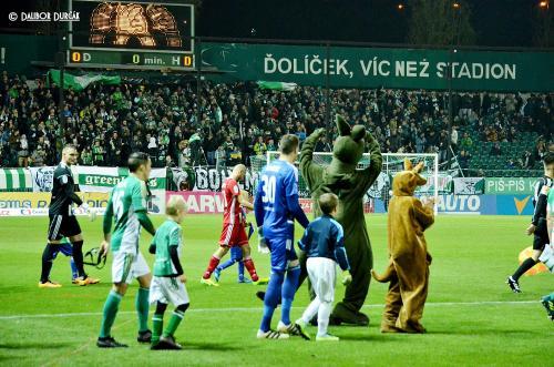 Nástup na utkání Bohemians 1905 vs. Sigma Olomouc, HET liga