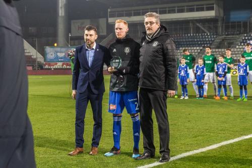 Václav Jemelka s cenou za Fair-play