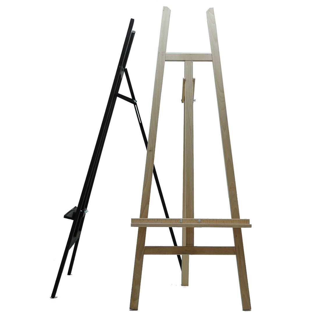 floor standing wooden display easel