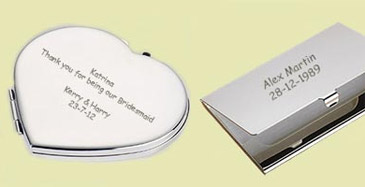 Silver plated engraved gifts