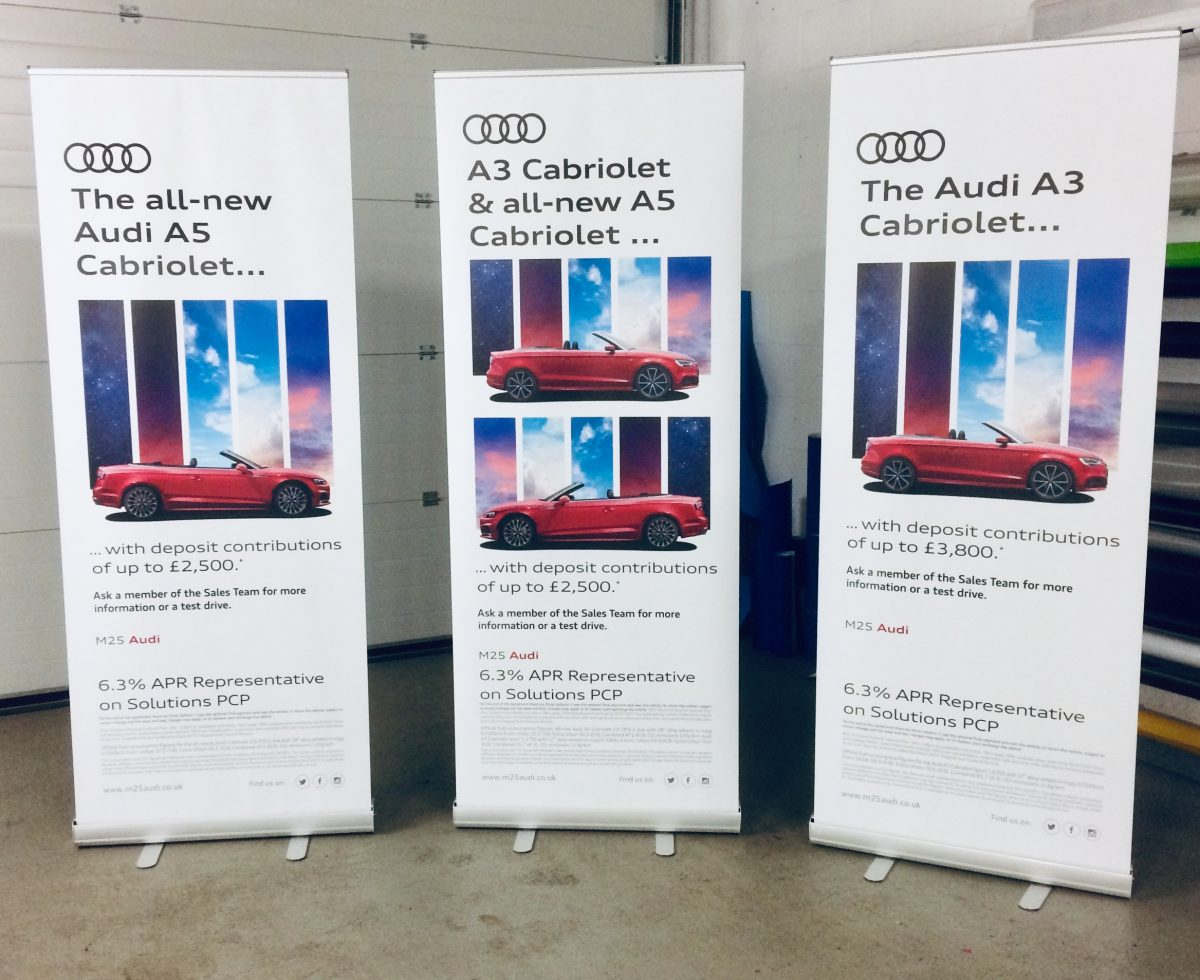 Audi Pull-up Banners