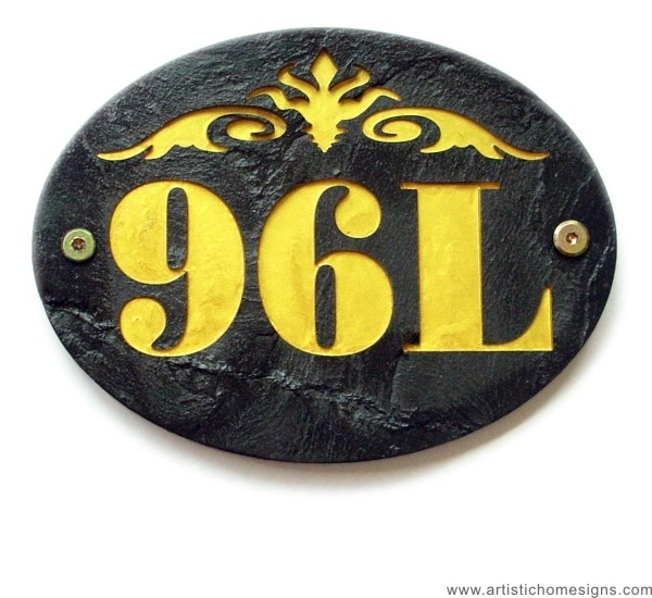 Black Stone Gold Letters