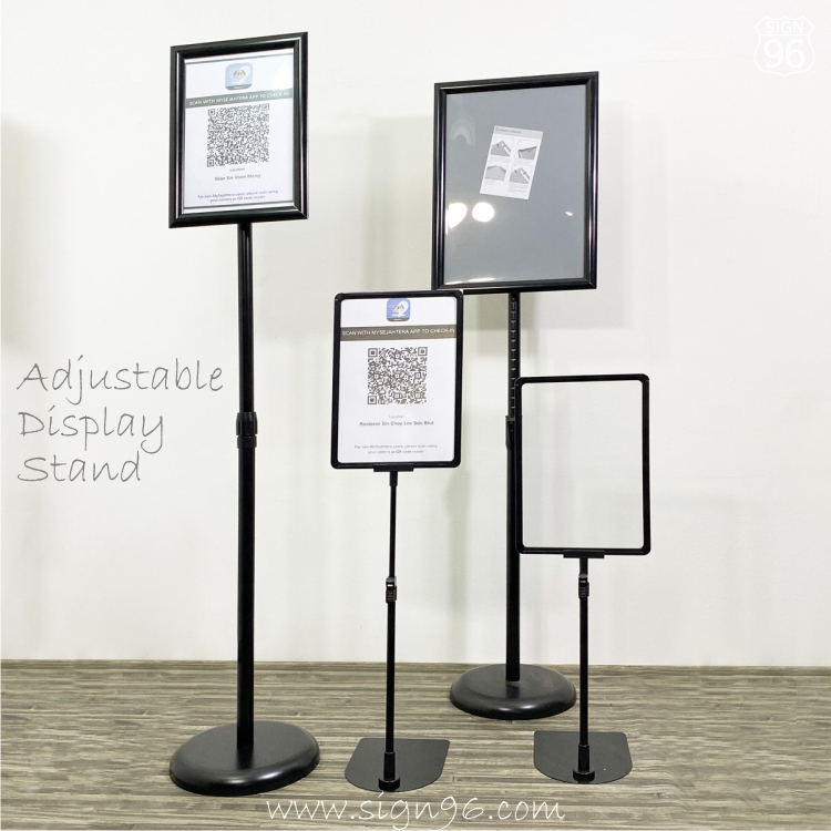 Easy Snap Poster Frame Display Stand For MySejahtera SOP MCO QR Print
