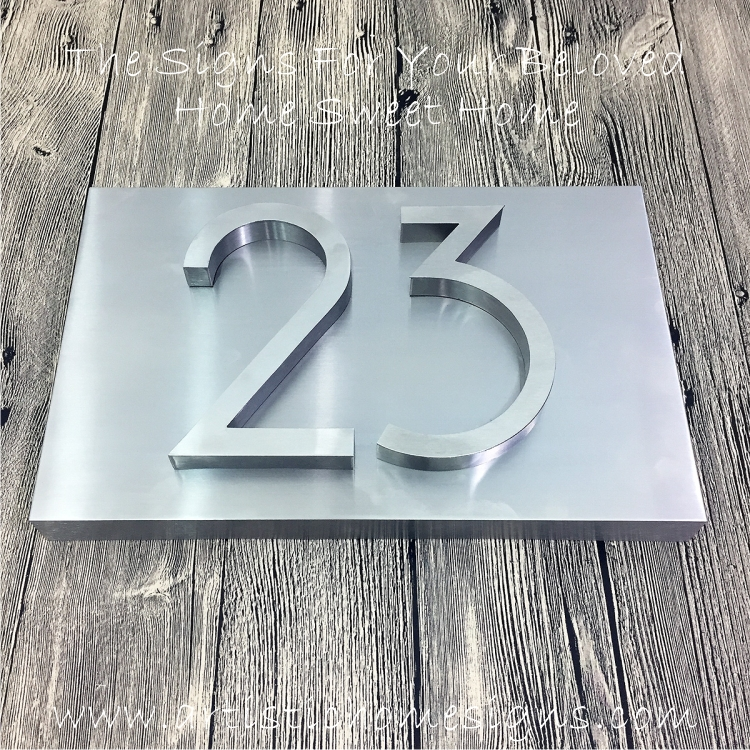 3D Numbers Address Sign Plaque 23