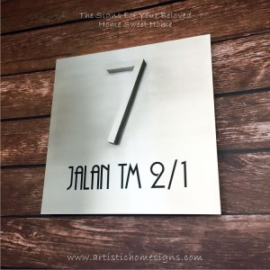 3D Numbers Etching Address Sign Plaque 7
