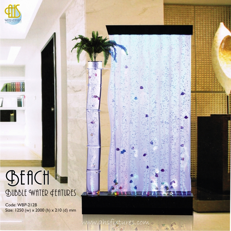 Beach Bubble Water Features Decorative Acrylic Display Partition Divider