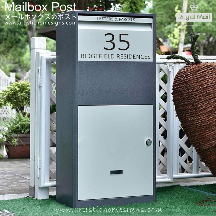Parcel Pal Family Express Box Drop Mailbox Letterbox Malaysia Home Decor MLB-635 01 Address Sticker Made In Malaysia