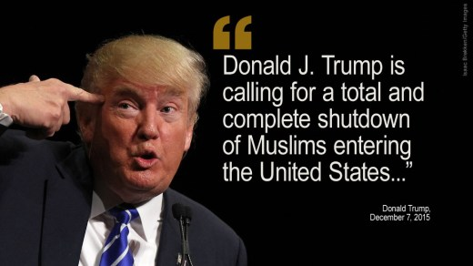Image result for immigration trump quote syrians muslim ban