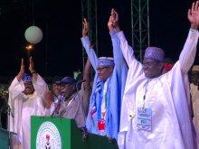 Image result for APC affirms Buhari as presidential flag-bearer