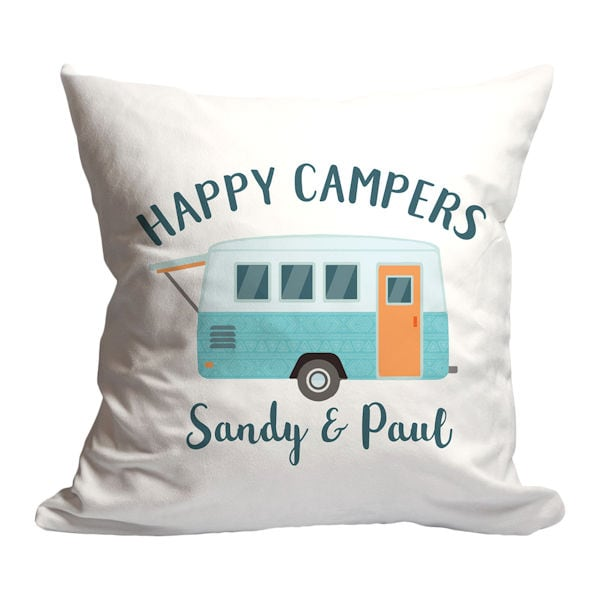 personalized happy campers pillow