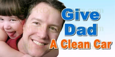 wm 01-CW019 GIVE DAD A CLEAN CAR 192x384R