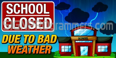 06-043 SHOOL CLOSED-BAD WEATHER 192X384