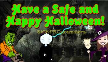 wm a safe and happy halloween