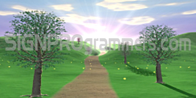 09-033 SPRING PATH BACKGROUND 192×384