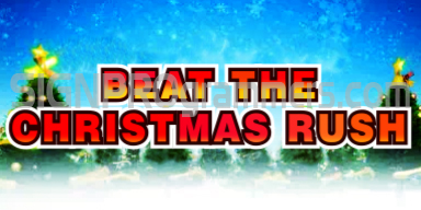 12-501 BEAT THE CHRISTMAS RUSH 192×384