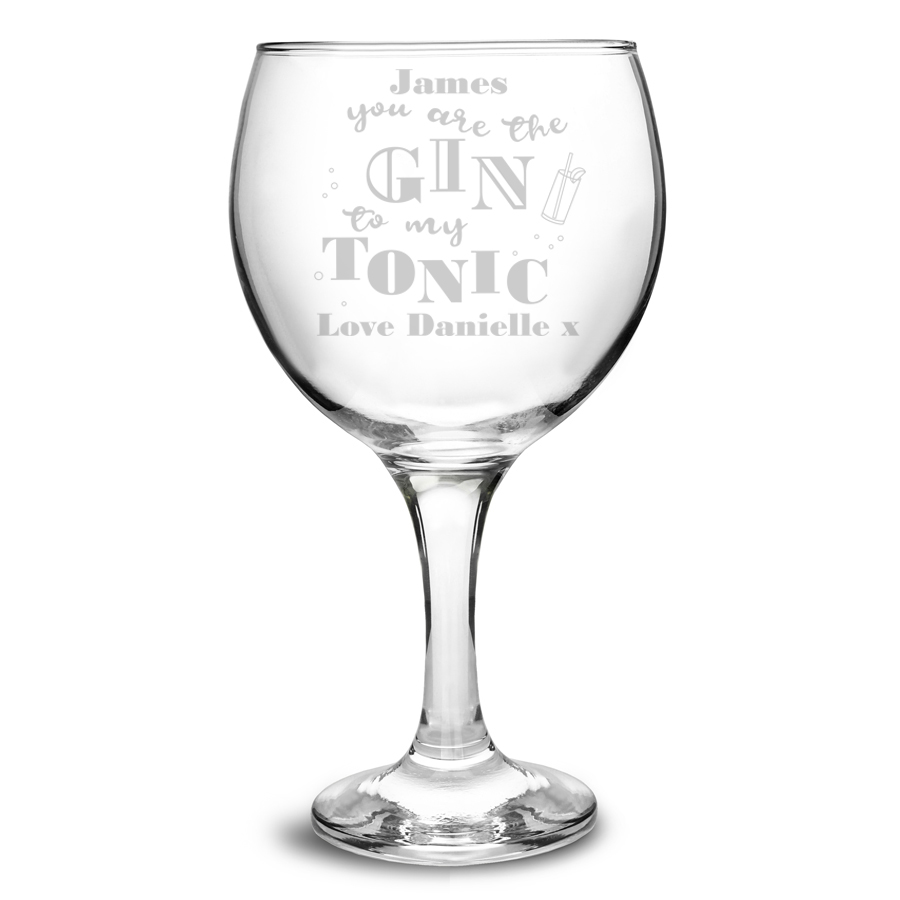 Gin To My Tonic Gin Balloon Glass Signature Gifts