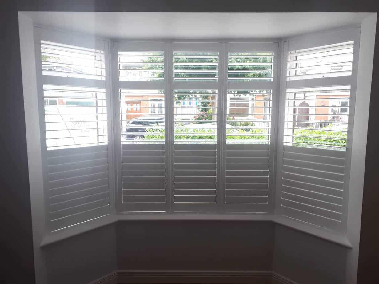 Bay Window Plantation Shutters Installed In Whitehall
