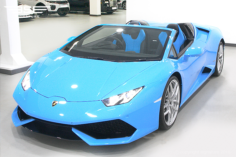 Hire Lamborghini Huracan Spyder Blue - The Ultimate ...
