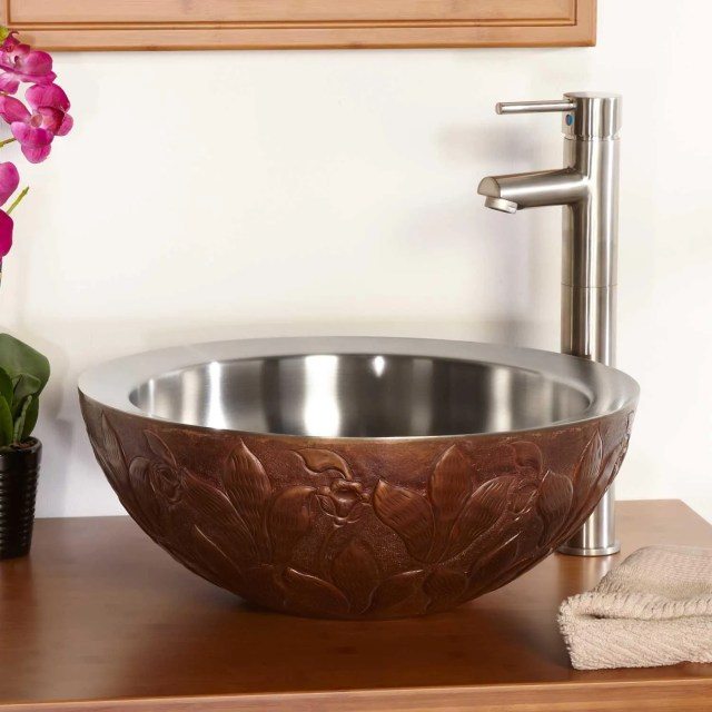 Steel Bathroom Vessel Sink