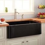 33 Polished Granite Farmhouse Sink Black Kitchen