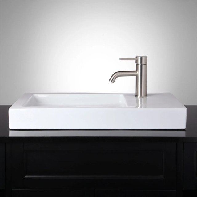 Rectangle Bathroom Vessel Sink