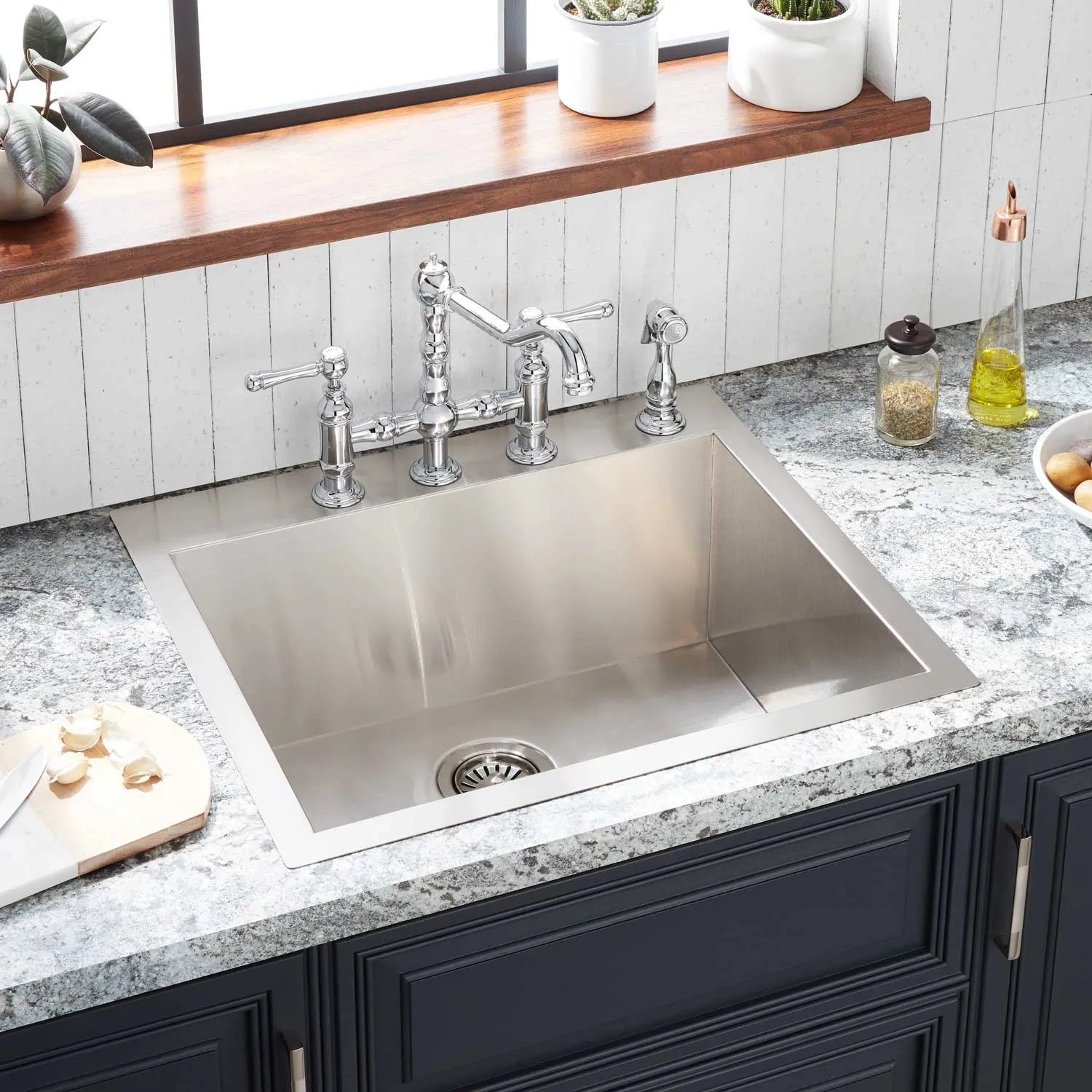 rectangle stainless steel sink