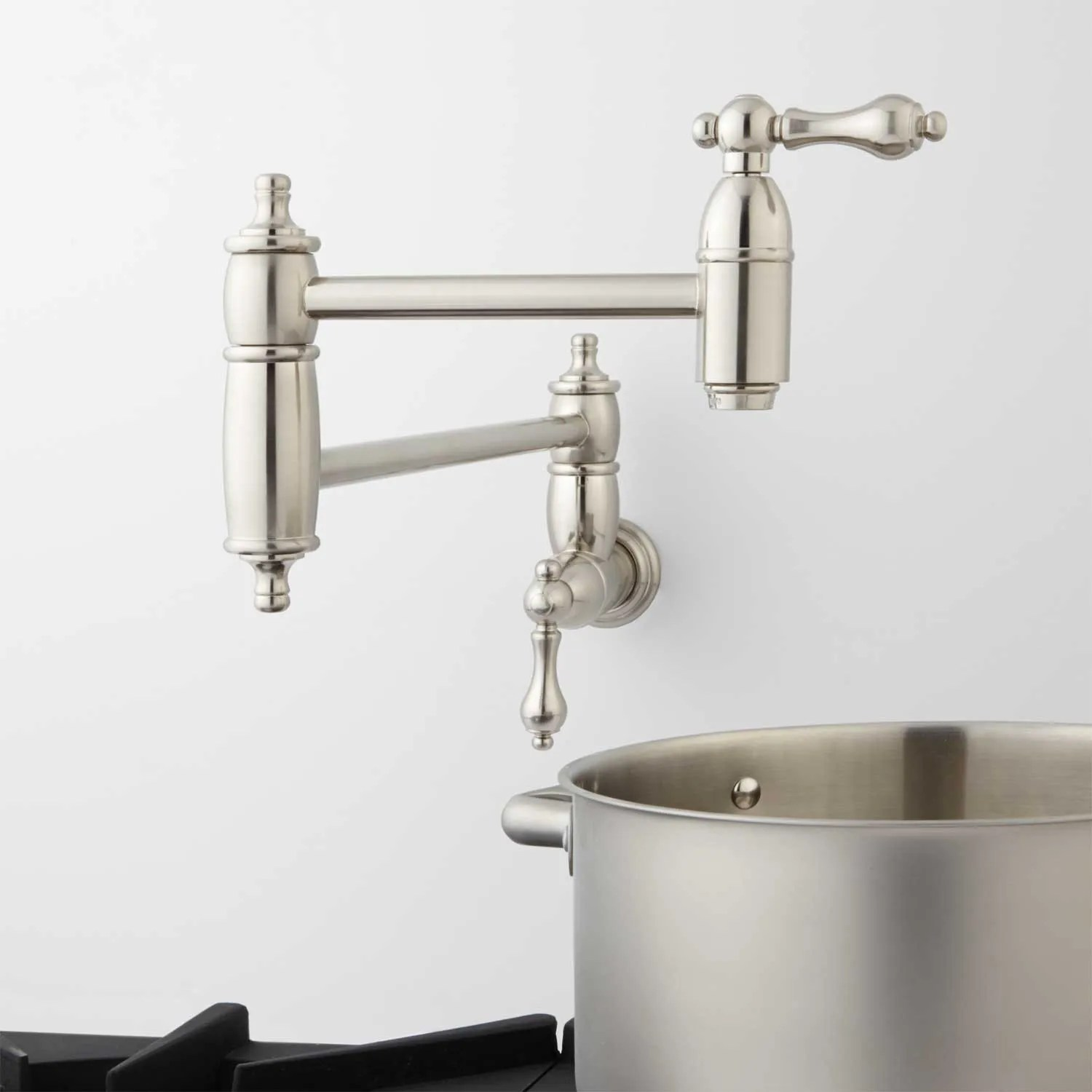 Augusta Retractable Wall Mount Pot Filler Kitchen