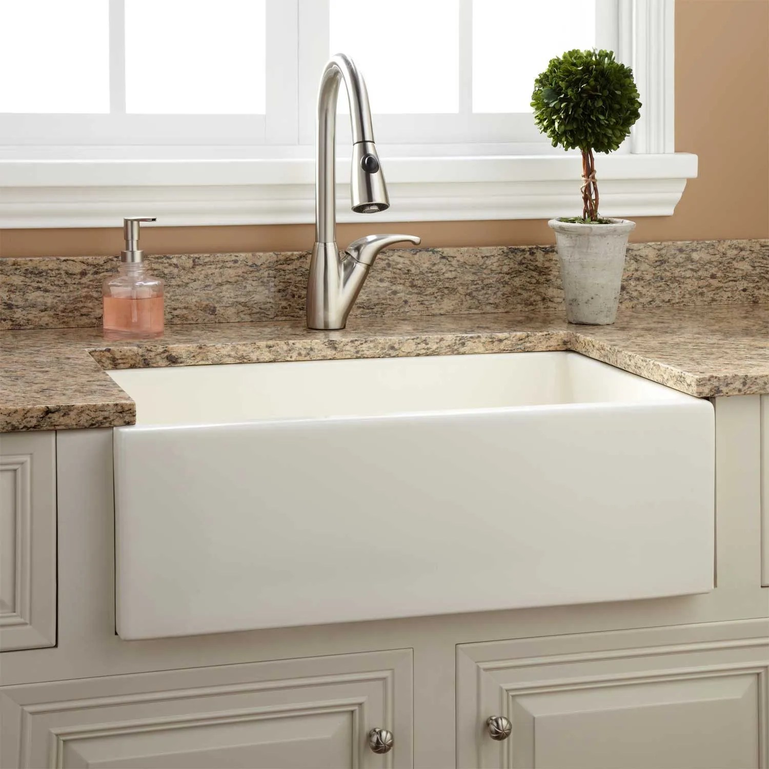 30 risinger reversible fireclay farmhouse sink smooth on kitchens with farmhouse sinks id=32674