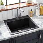 25 Totten Granite Composite Drop In Kitchen Sink Black Kitchen