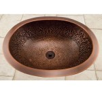 19 Almont Decorative Oval Hammered Copper Sink Bathroom