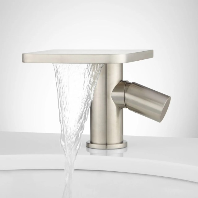 Knox Single Hole Waterfall Bathroom Faucet with Pop Up Drain