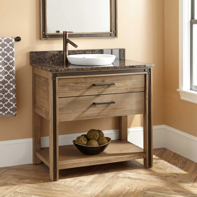"36"" Celebration Vanity for Semi Recessed Sink Rustic Acacia"