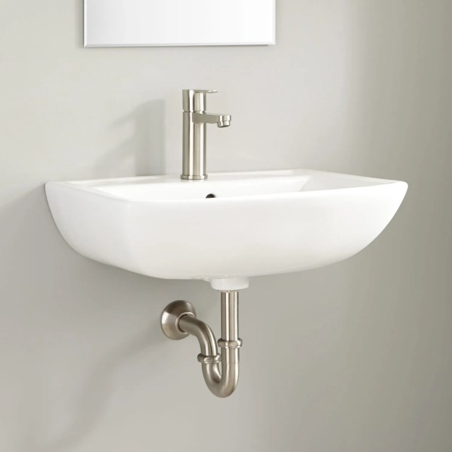 Kerr Porcelain Wall Mount Bathroom Sink Bathroom