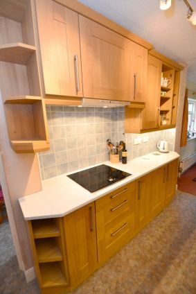 Kitchen Makeover - Chaldon Way Solid Oak 3