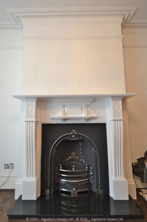 Fireplace Installation with Coving, Ceiling Rose & Chandelier 3