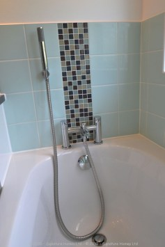 Light & Spacious Fitted Bathroom with pentagon shower enclosure - Woodcrest Road Purley 5