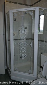 Light & Spacious Fitted Bathroom with pentagon shower enclosure - Woodcrest Road Purley BEFORE 1