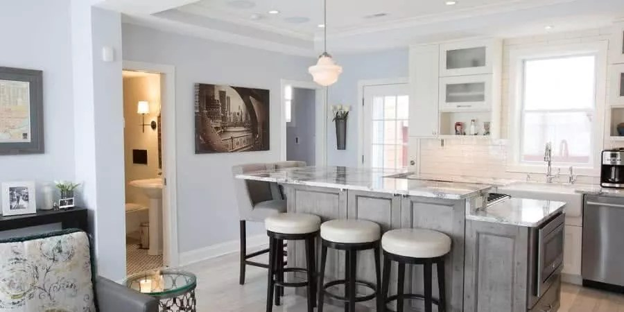 Kitchen Island Design In Two Levels Signature Kitchens Additions Amp Baths