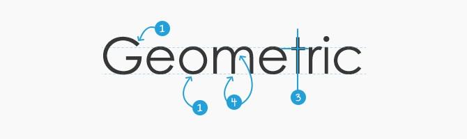 Geometric Sans Serif Features