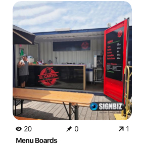commercial signage pinterest recent work menu boards