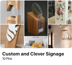 signage pinterest custom inspiration